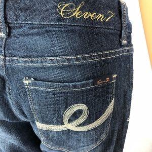 Seven 7 Boot Cut dark denim jeans size 4